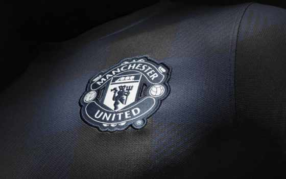 manchester, united, black, high, logo,