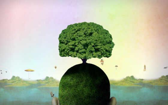 обои, дерево, жизни, голове, воображаемое, категор