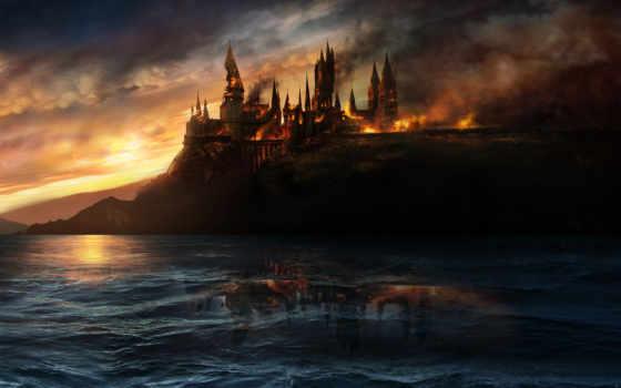 апокалипсис, fantasy, изображение, поттер, гарри, wars, star, heiligtümer, дворик,