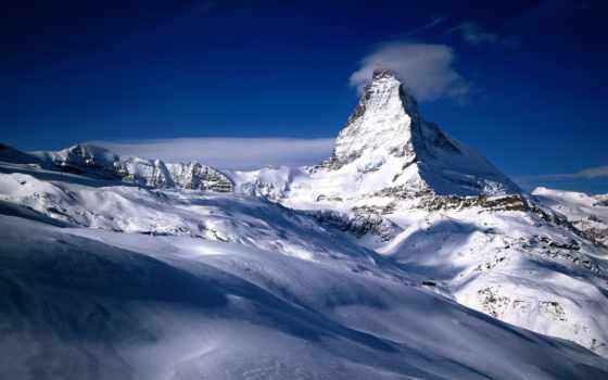 природа, горы, дек, gornergrat, красивый, swiss, по, железный, станция, взгляд, зимние,