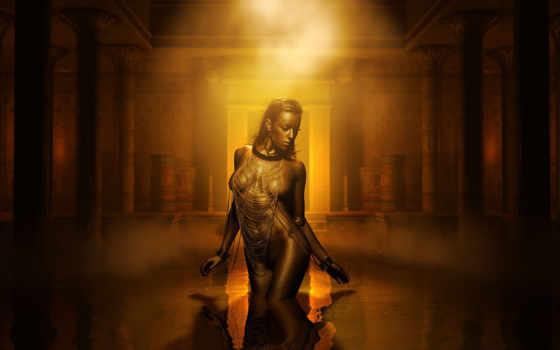 креатив, египетский, fantasy, dark, attire, figurine, water, секси, креативные,