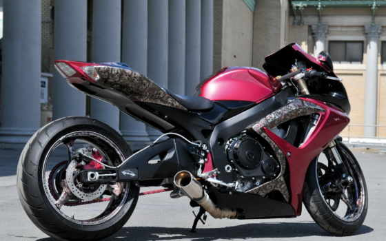 мотоцикл, hoss, boss, спортбайк, аэрография, red, ducati, мотоциклы, мотоциклов,