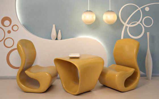 интерьер, комната, art, кресло, стиль, картинка, попа, интерьере, design, гостиной,