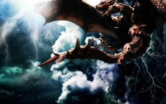 dragons, дракон, fonds, ecran, драконы, science, фантастика, images, creatures,