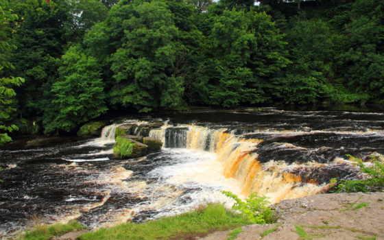 aysgarth, falls, йоркширский, agua, англия, desktop,