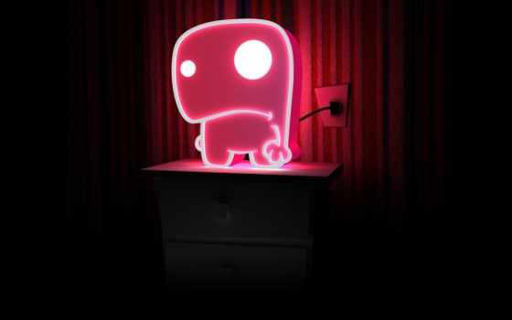 iphone, lamp