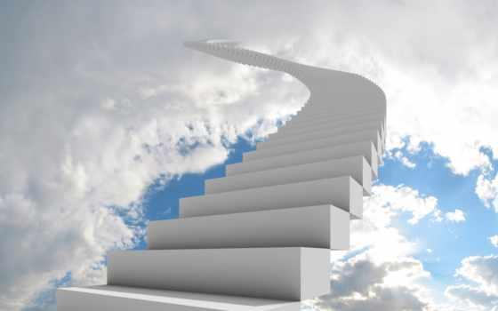 лестница, небо Фон № 20401 разрешение 2560x1600