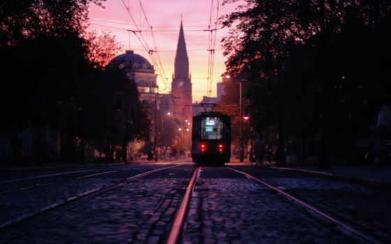 город, tram