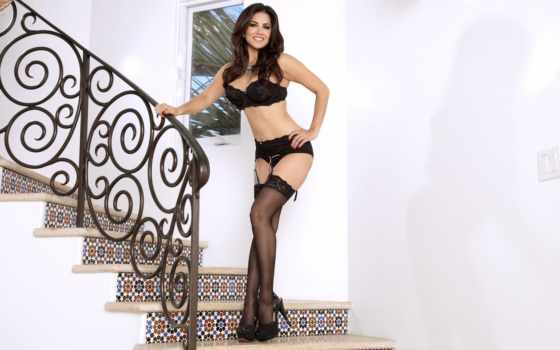 sunny, leone, stockings