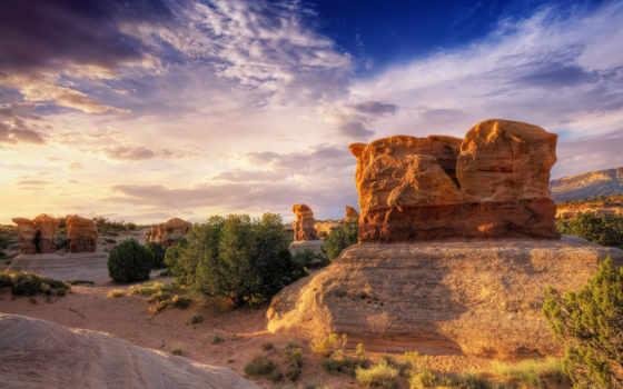 пустыня, камни, высокого