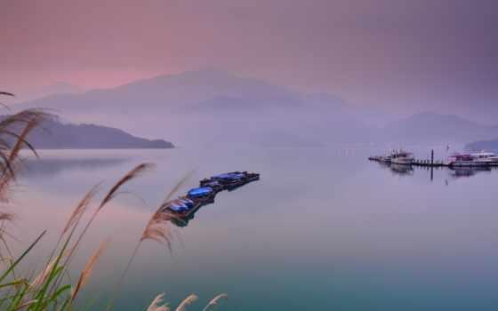 лодки, landscape, озеро