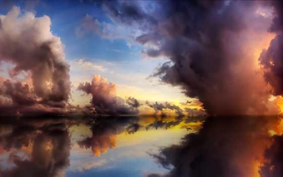 отражение, небо, world, подобен, котором, зеркалу, water, видит, каждый, озеро, собственное,