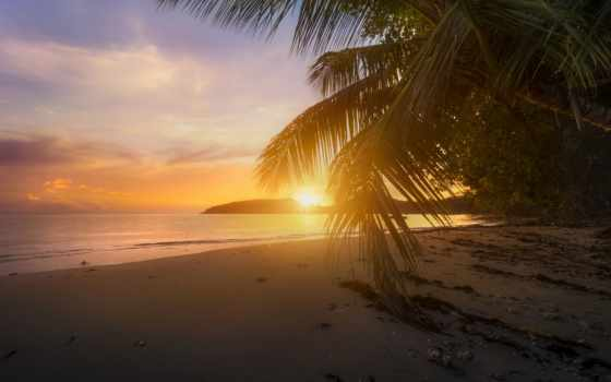 пляж, закат, ocean, free, boileau, seychelles, indian, water,