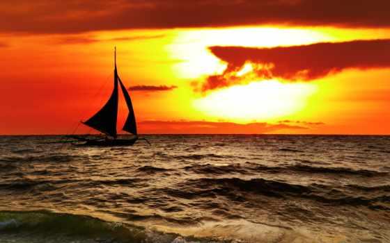 море, scenery, красивая, philippines, alcatel, закат, пейзажи -, elomda, obrazy,