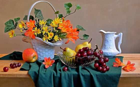 натюрморт, fruta, кувшин, puzzle, community, akmaya, осень