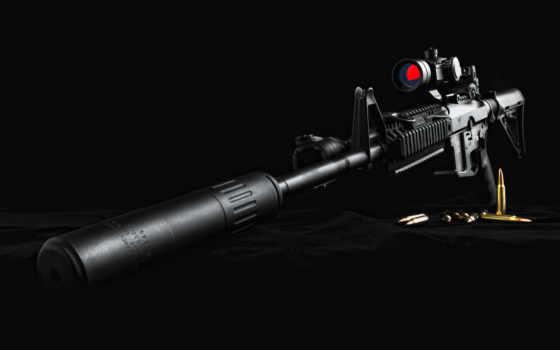 винтовка, снайперская, глушителем
