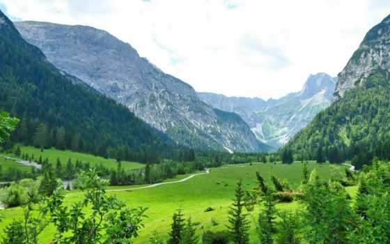 landscape, природа, горы, austrian, картинка, tyrol, трава, achensee, am, eben,