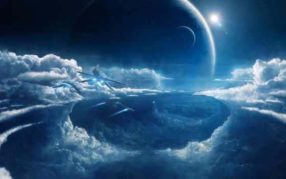 cosmos, full, заставки, goodfon, планеты, корабли, космические,