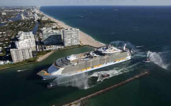 seas, allure, оазис, лайнер, судно, класса, cruise, круизное, находящееся, собственности, компании,