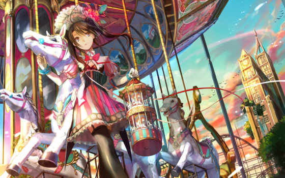 anime, carousel