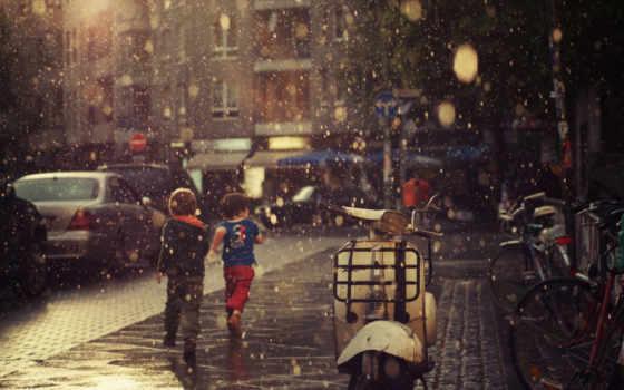 улица, дождь, категория