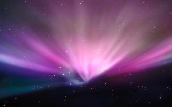 космос, огни, яркий