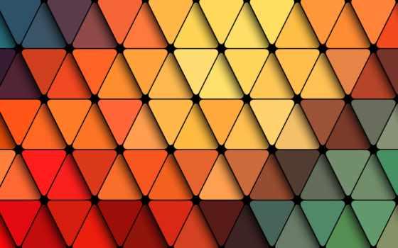 , треугольники, цвета, линии,