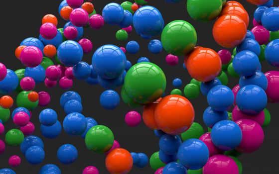шары, отражение Фон № 20400 разрешение 2560x1600