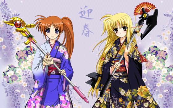 nanoha, shoujo, mahou, fate, lyrical, movie, лиричная, desktop, anime, волшебница, page, testarossa,