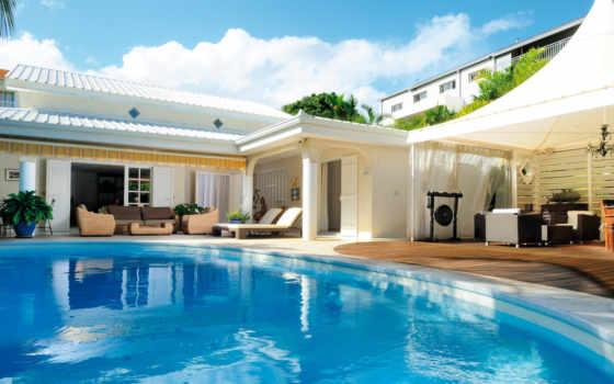 бассейн, интерьер, отдых
