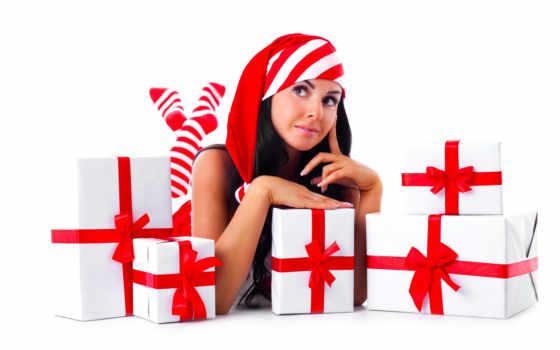 new, год, девушка, сувениры,
