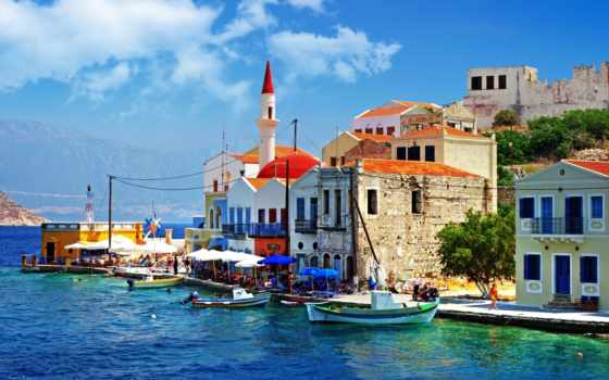 greece, море, причал
