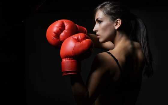 boxing, gloves, перчатки, боксерские, женщина, red, браун, stock, поза,