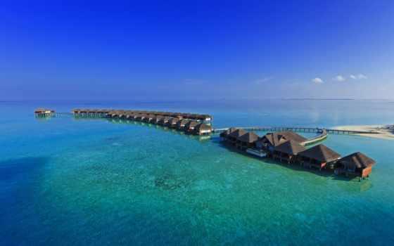 море, houses, природа, house, islands, landscapes, clouds, skies, побережье,