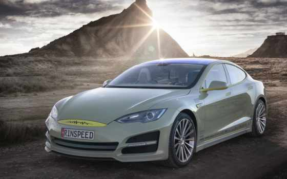 tesla, модель, car, rinspeed, concept, февр, autonomous, но, police,