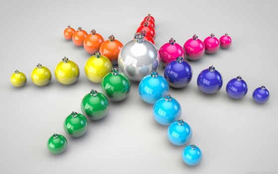 christmas, шарики, colorful, desktop,