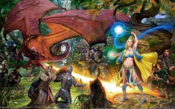 игры, everquest, online, fantasy, games, game, широкоформатные, dead, пазлы,