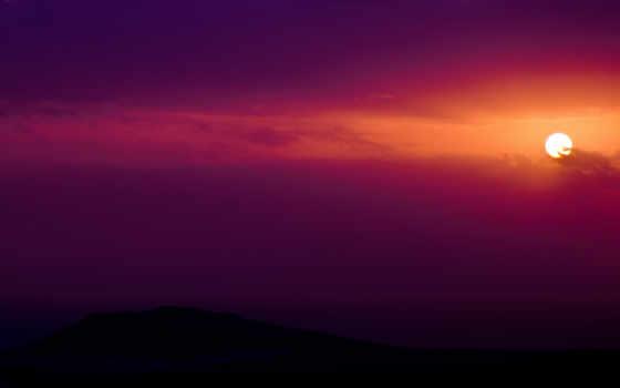 небо, закат, sun