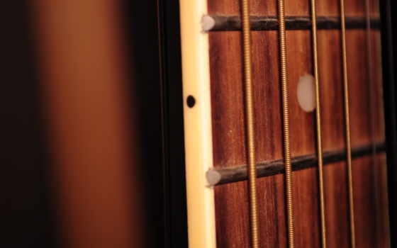 diapasón, гитара, струны