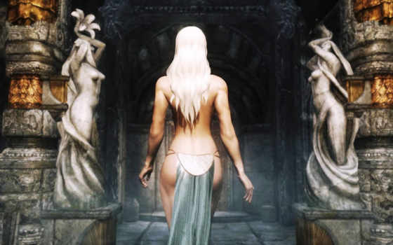 skyrim, elder, scrolls, девушка,