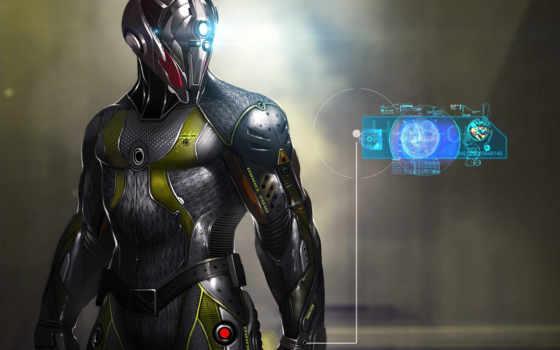 cyborg, skin, robot