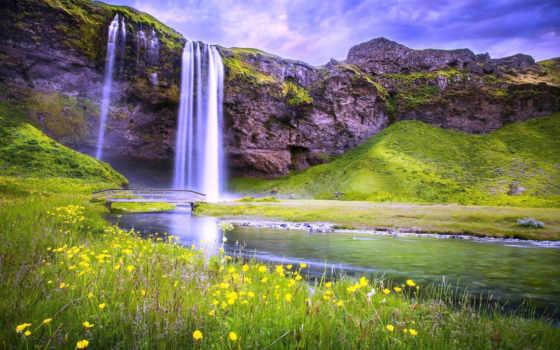 seljalandsfoss, iceland, водопад, waterfalls, falls, река,
