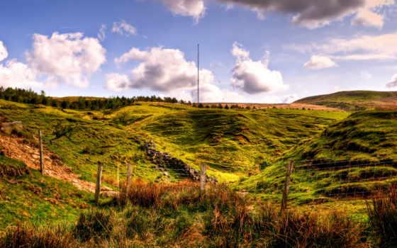 pradarias, horwich, природа, geografia, trabalho, трава, великобритания, para, англия, небо,