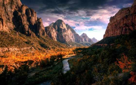 гора, themes, тема, долина, река, портфель, full,