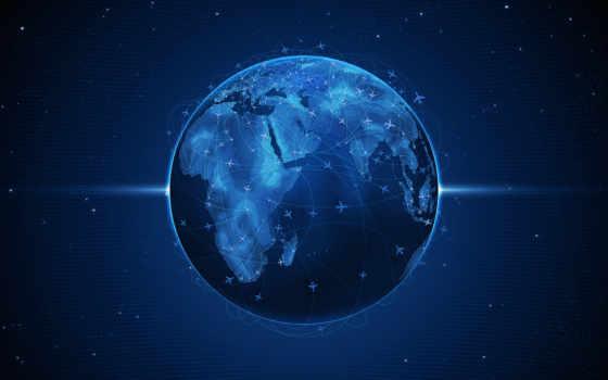 planet, land, страница, высоком, качестве, заставки, графика, blue, мяч,