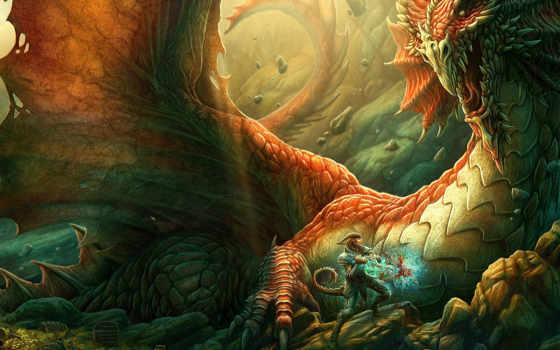 дракон, меч