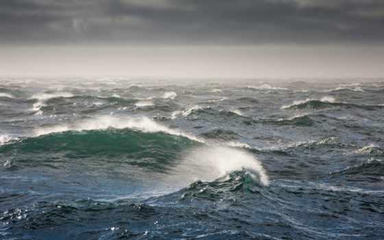 море, waves, буря, берингово, bering, природа, картинка,