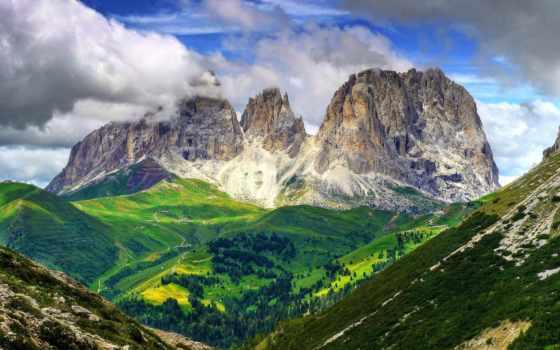 альпы, доломитовые, горы, альп, italian, доломитовых, красавица, волшебная, италии,