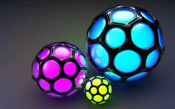 сфера, мяч, хороший, shape, diode, подсветка, rendering, назад, random