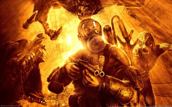 метро, игра, игры, мутанты, огонь, games, компьютерные, видео,